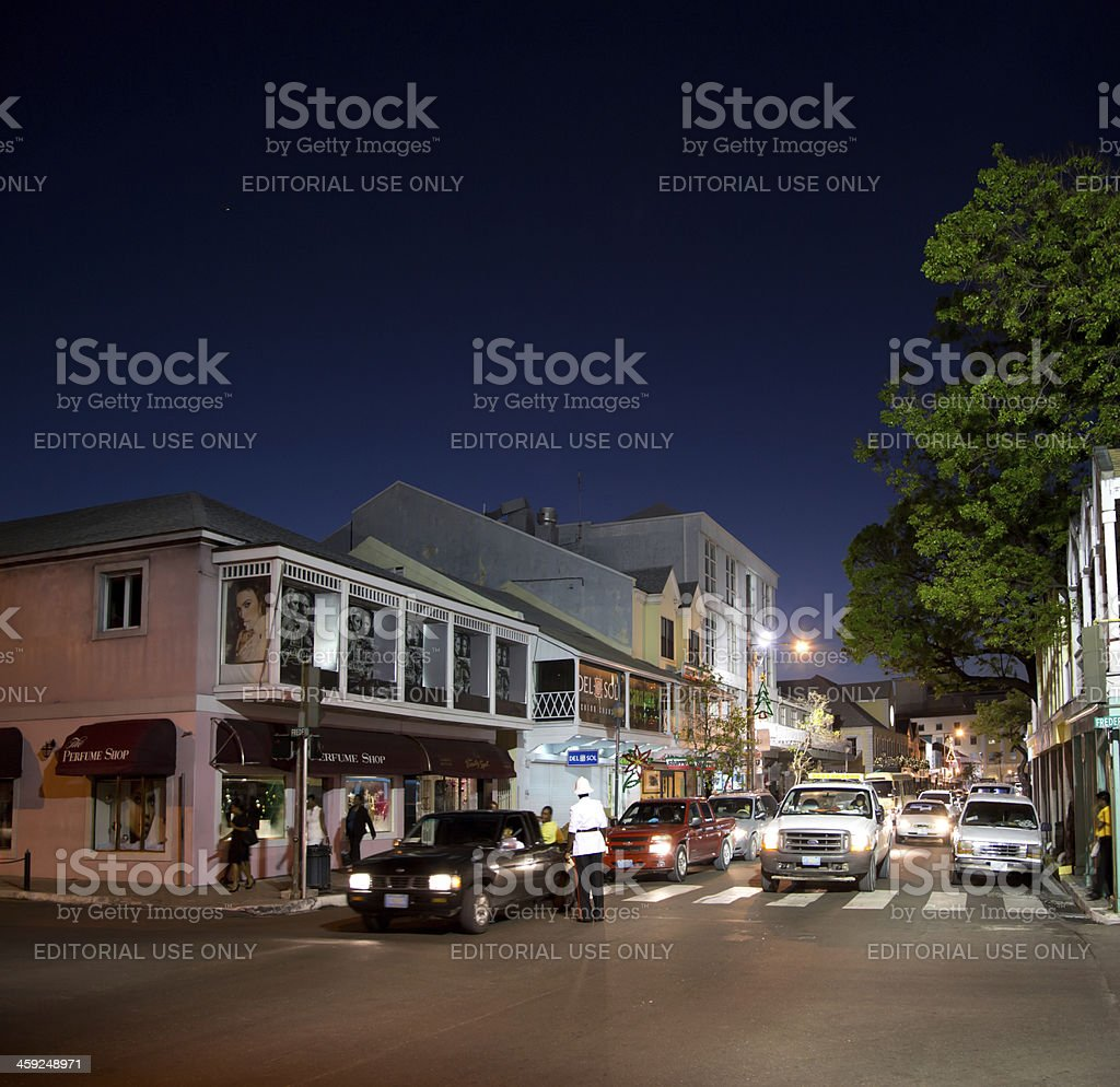 Nassau street downtown royalty-free stock photo