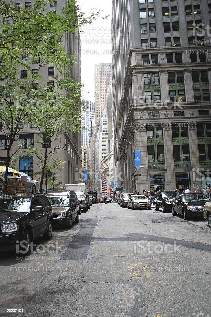 Nassau Street, New York royalty-free stock photo