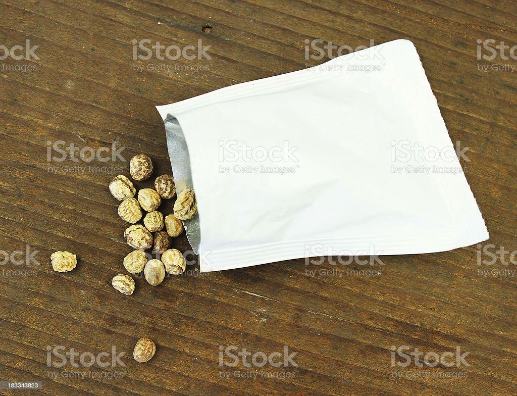 Nasturtium Seeds stock photo