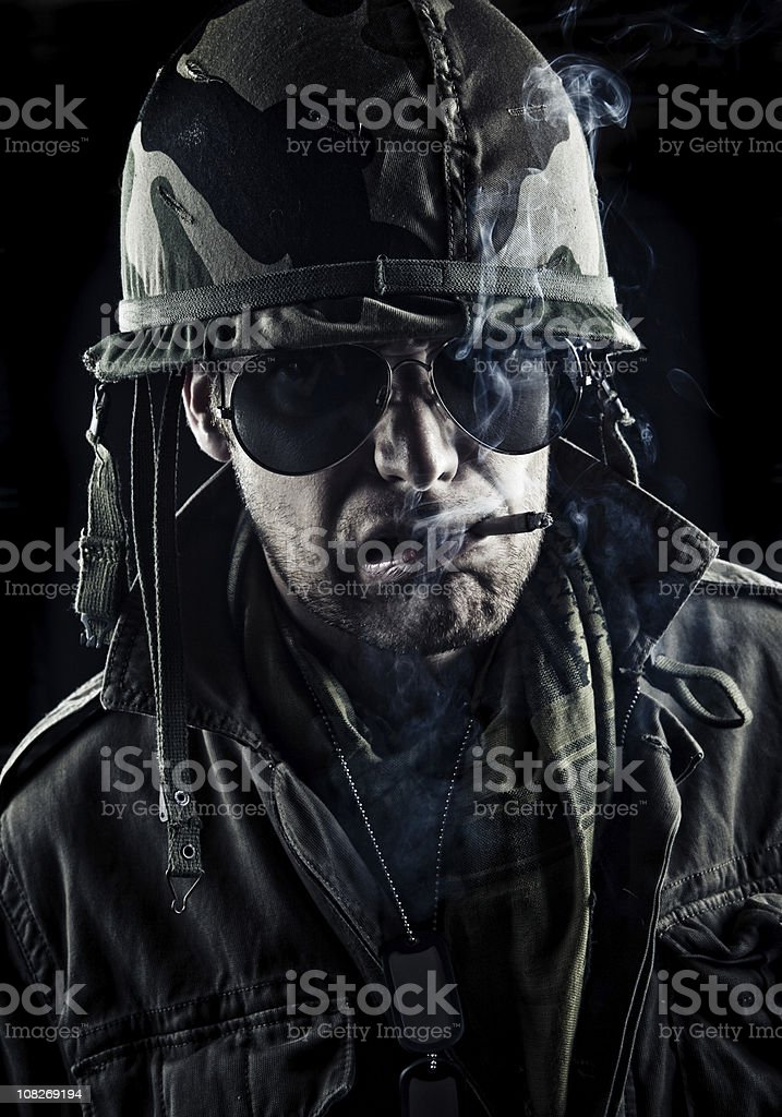 nasty officer stock photo