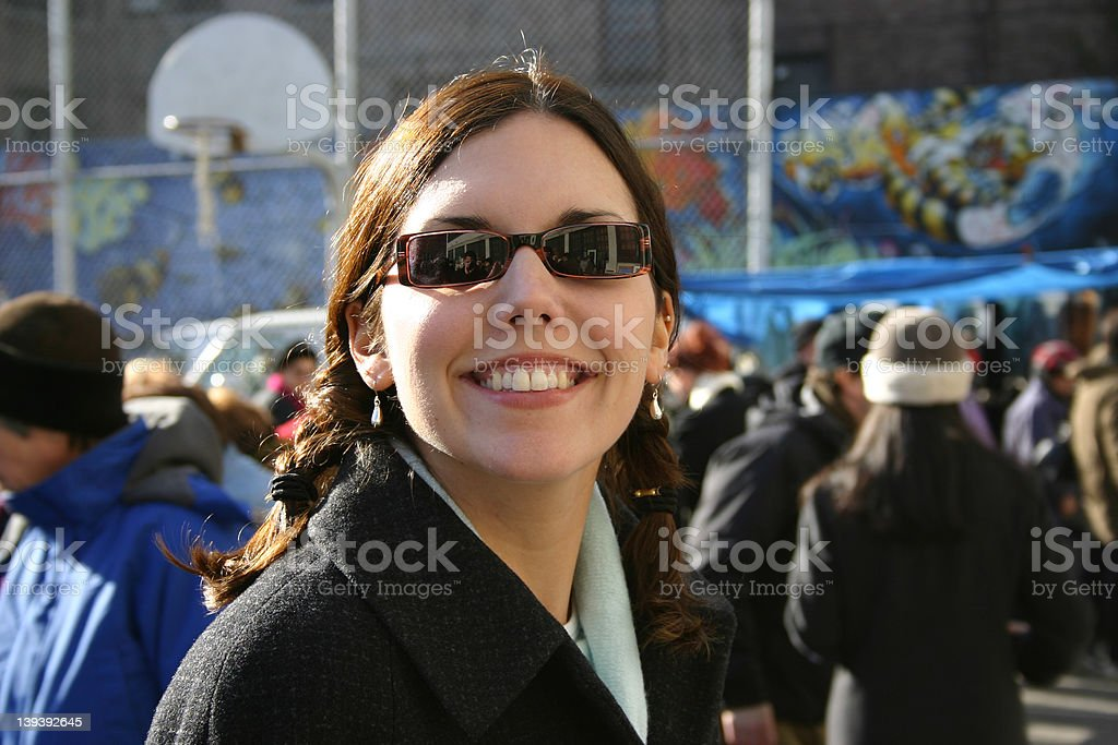 Natasha Shopping on the Upper East Side royalty-free stock photo