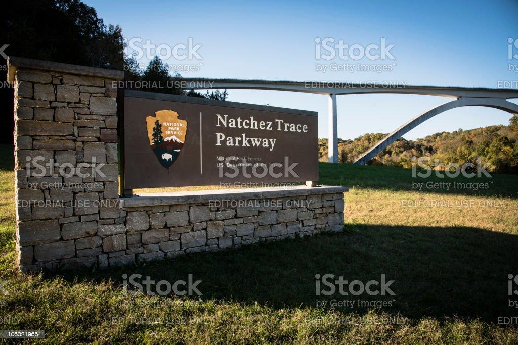 Natchez Trace Parkway Bridge stock photo