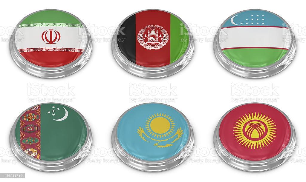 Nation flag icon set stock photo