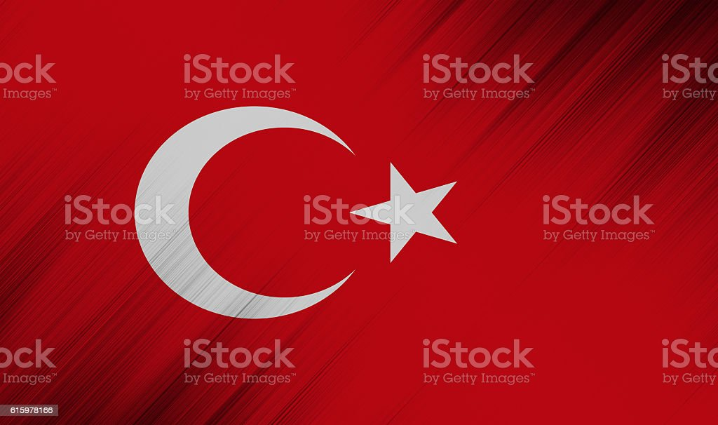 Nation flag of european country  - Turkey stock photo