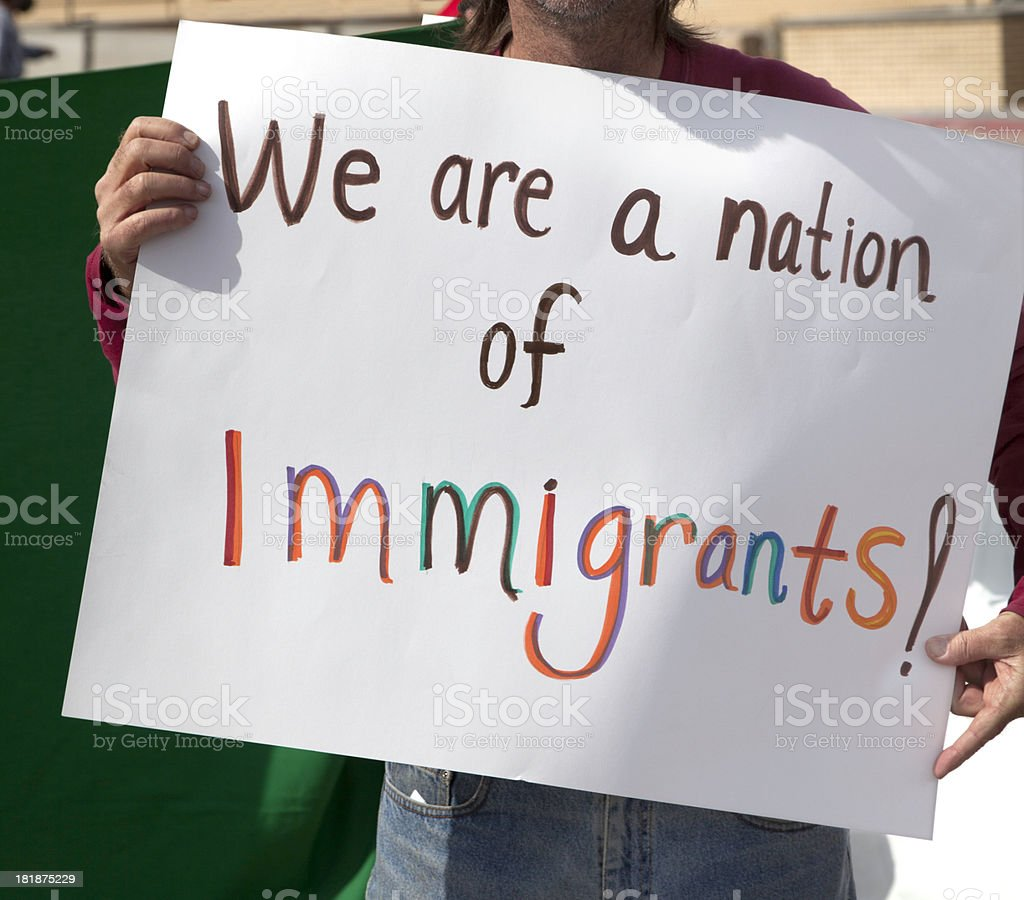 Nation of Immigrants stock photo