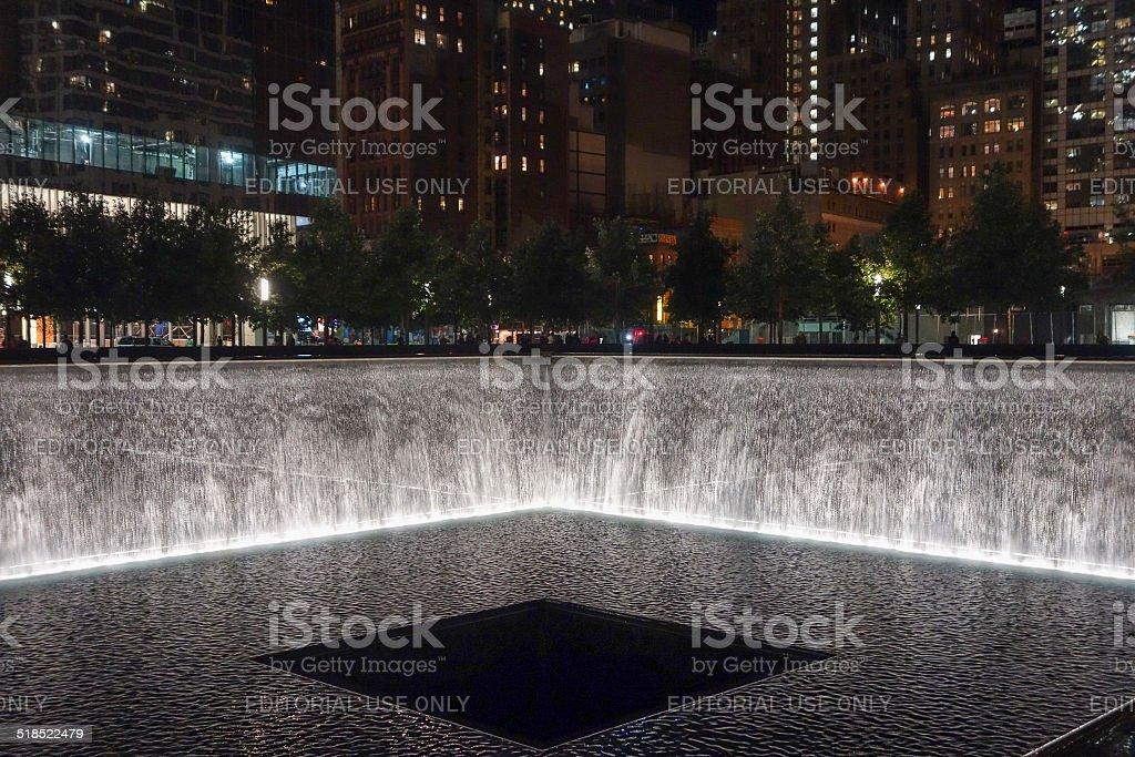 National 9 11 Memorial in NY stock photo
