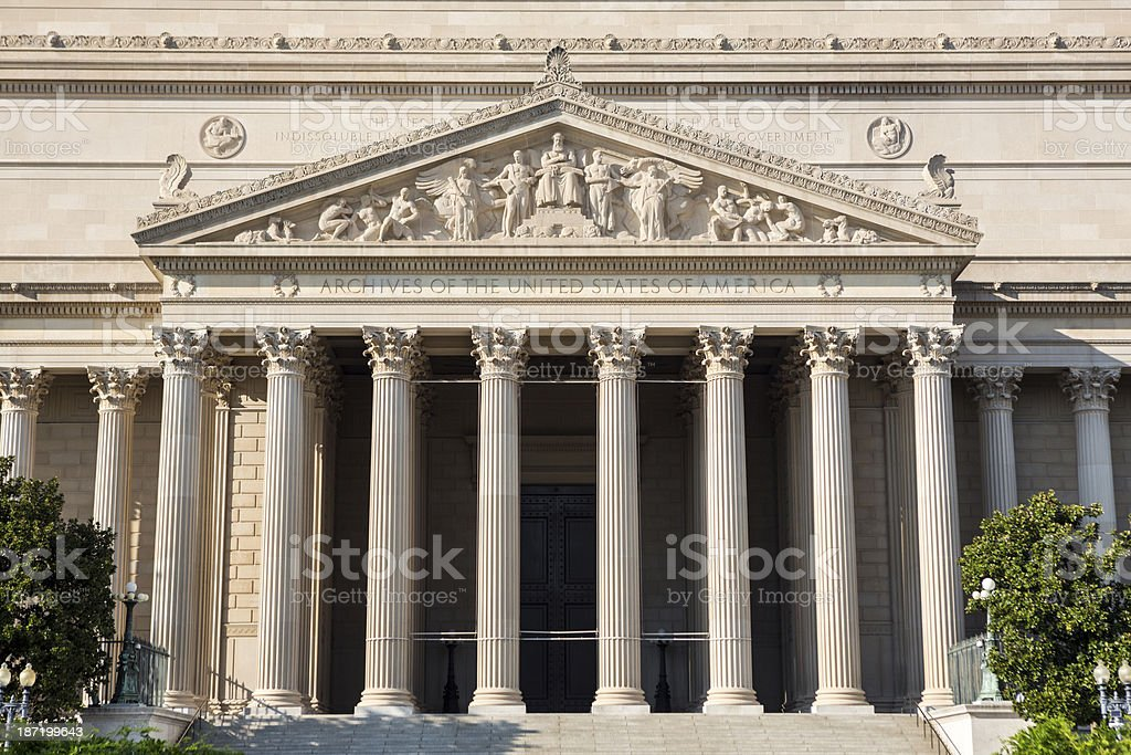 National Archives USA stock photo