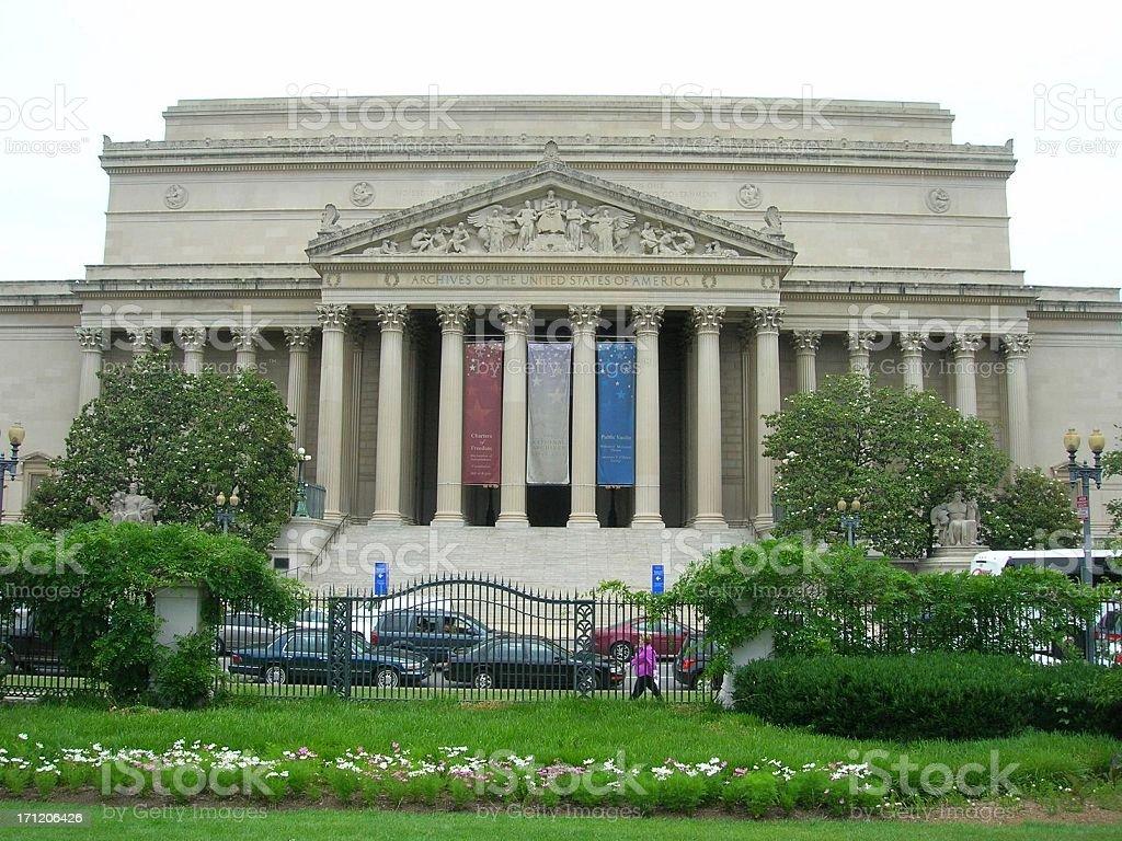 National Archives, Washington DC royalty-free stock photo