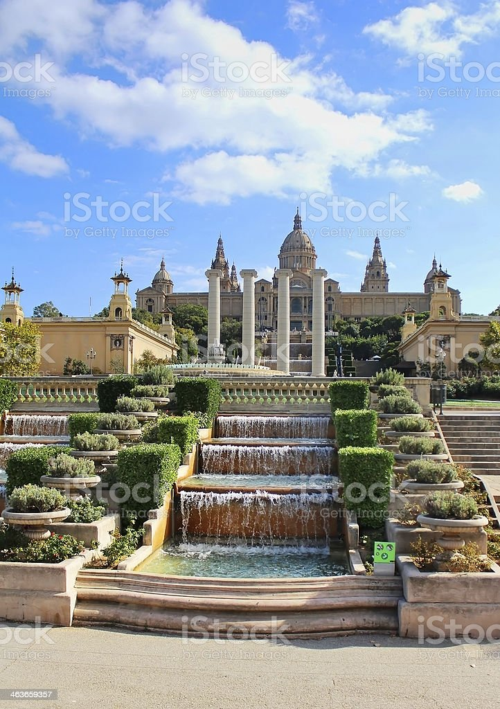 National Art Museum in Barcelona, Spain stock photo
