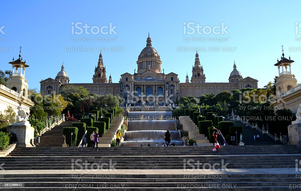 National Art Museum of Catalonia in Barcelona stock photo