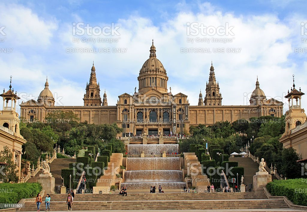 National Art Museum of Catalonia stock photo