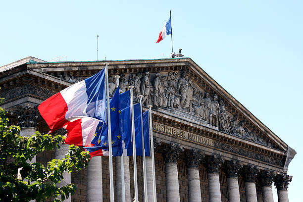 National Assembly in Paris Assemblée Nationale in Paris. french culture stock pictures, royalty-free photos & images