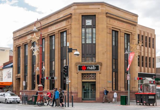National Australasia Bank building, Hobart Australia. stock photo