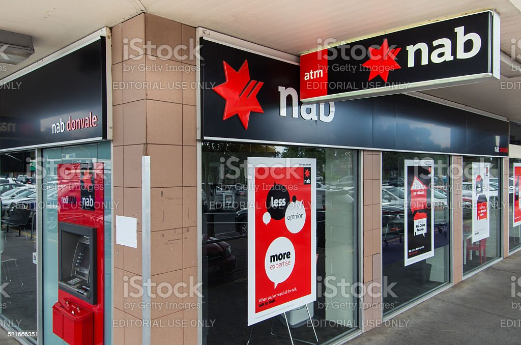 National Australia Bank branch stock photo