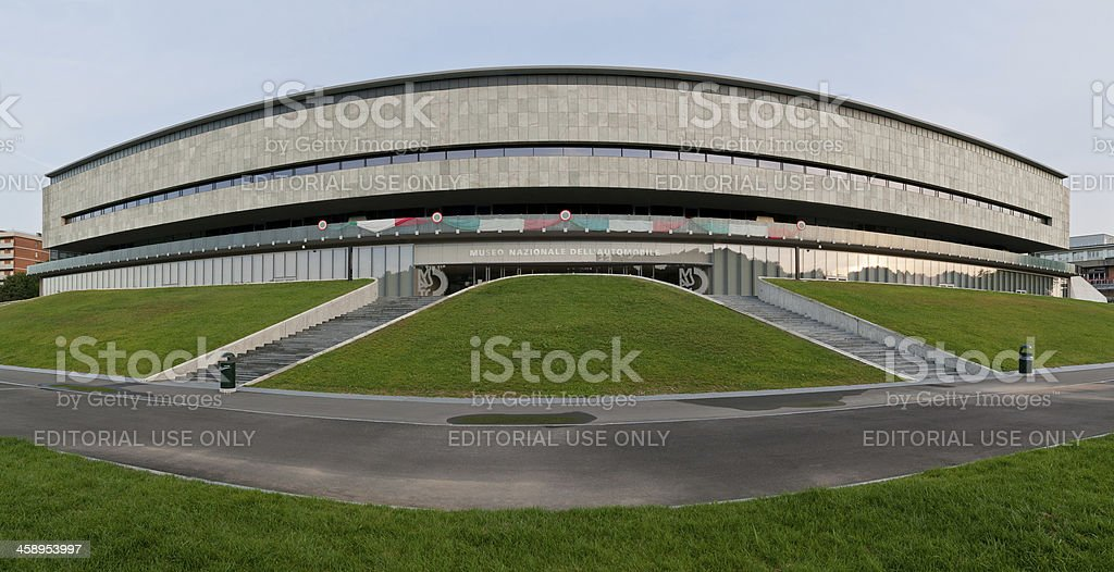 National Automobile Museum, Turin, designed by Amedeo Albertini, front view royalty-free stock photo