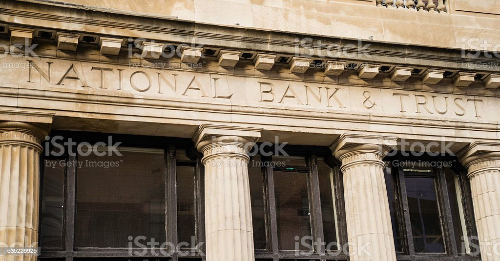 National Bank & Trust Facade stock photo