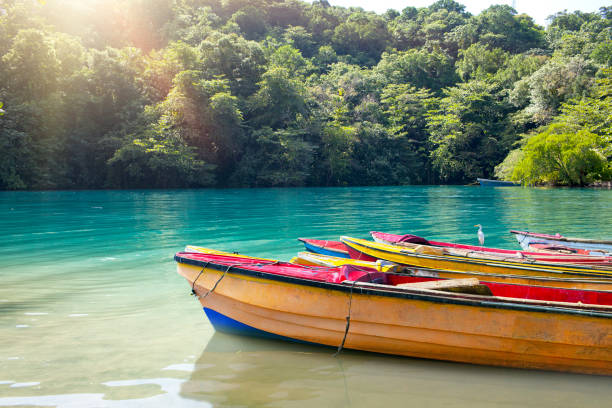 National boats of the Blue lagoon, Jamaica.