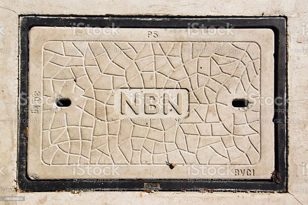 National Broadbank Network (NBN) Manhole stock photo