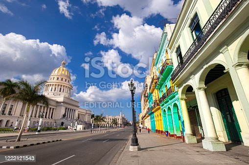 Havana, Cuba – 16 February 2020: National Capitol Building (Capitolio Nacional de La Habana) is a public edifice and one of the most visited sites by tourists in Havana