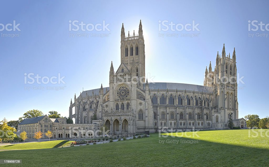 National Cathedral in Full View royalty-free stock photo