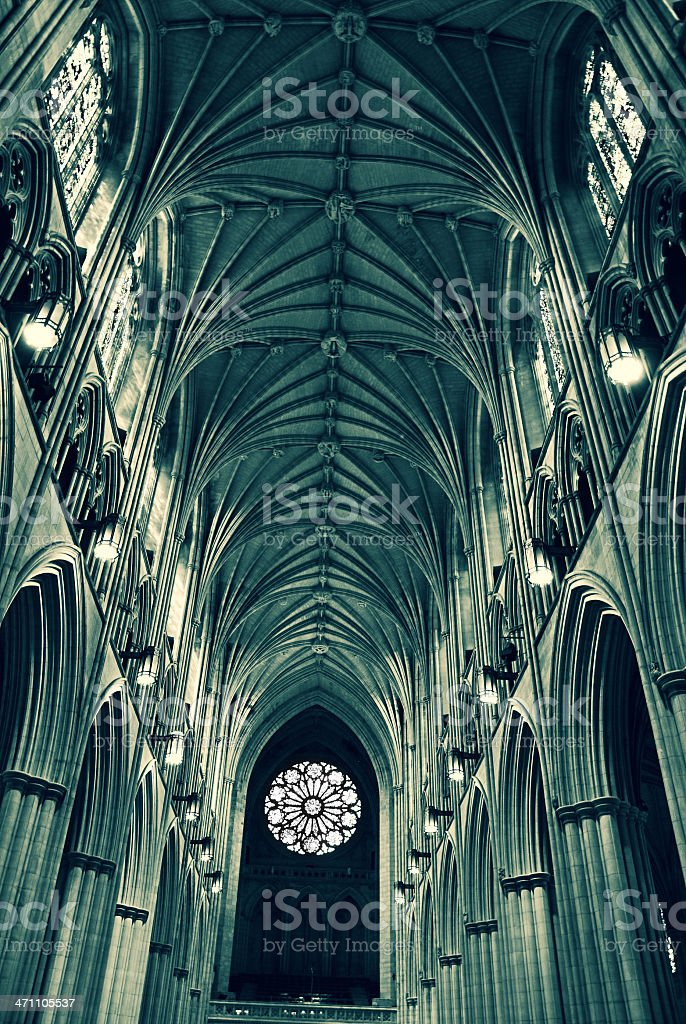 National Cathedral royalty-free stock photo
