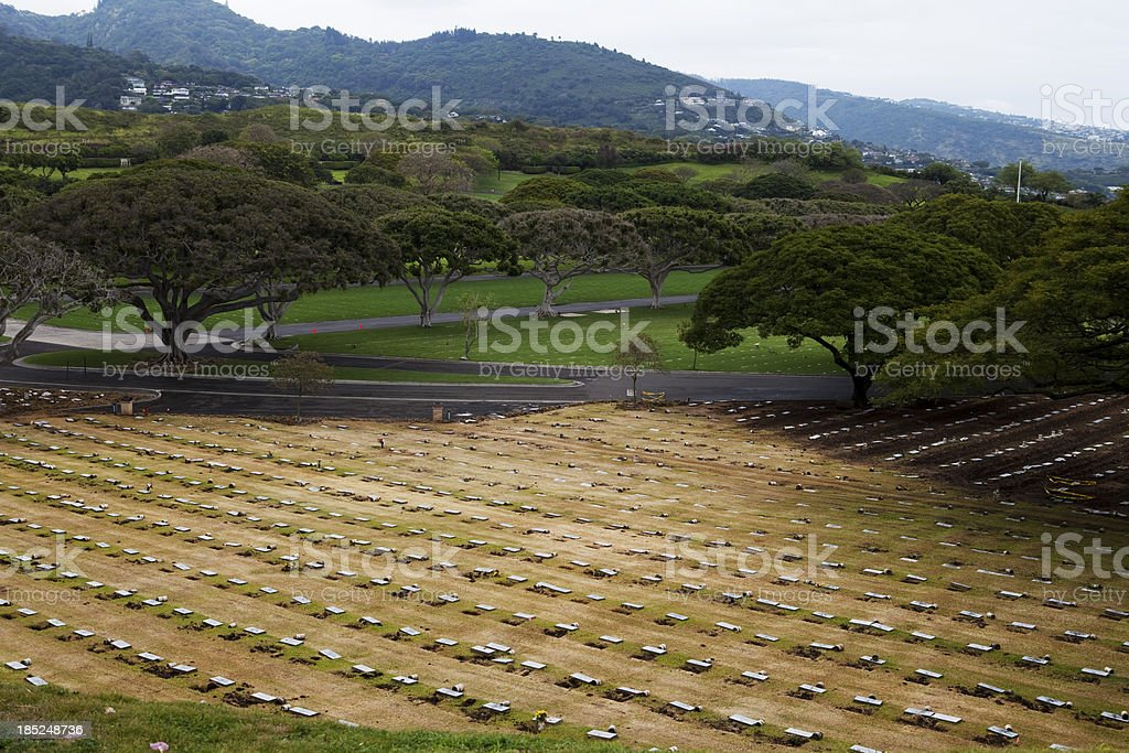 National Cemetary of the Pacific Oahu Hawaii renovation royalty-free stock photo