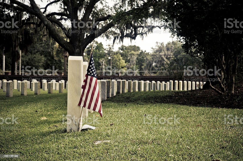 National Cemetery royalty-free stock photo