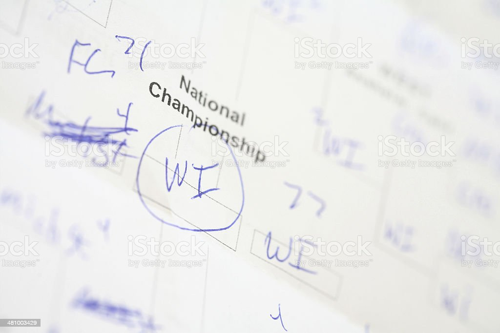 National Championship Bracket royalty-free stock photo