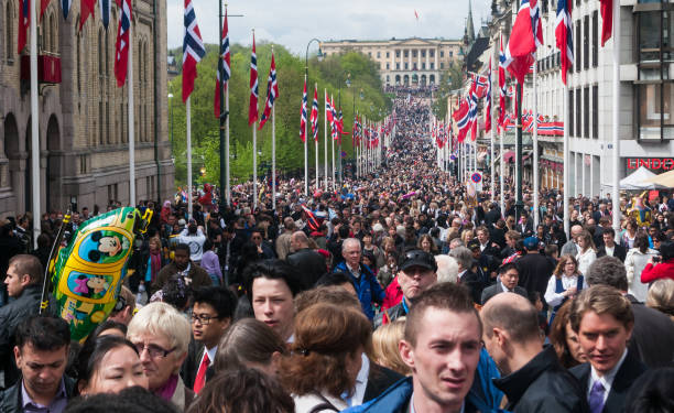 National day in Oslo stock photo
