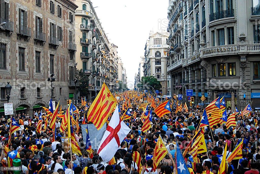 National Day of Catalonia royalty-free stock photo