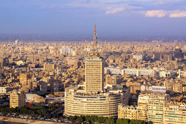 national egypt television - emissione radio televisiva foto e immagini stock
