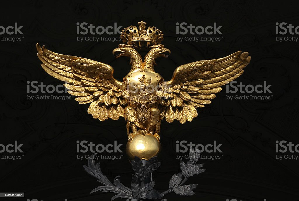National Emblem of Russia stock photo