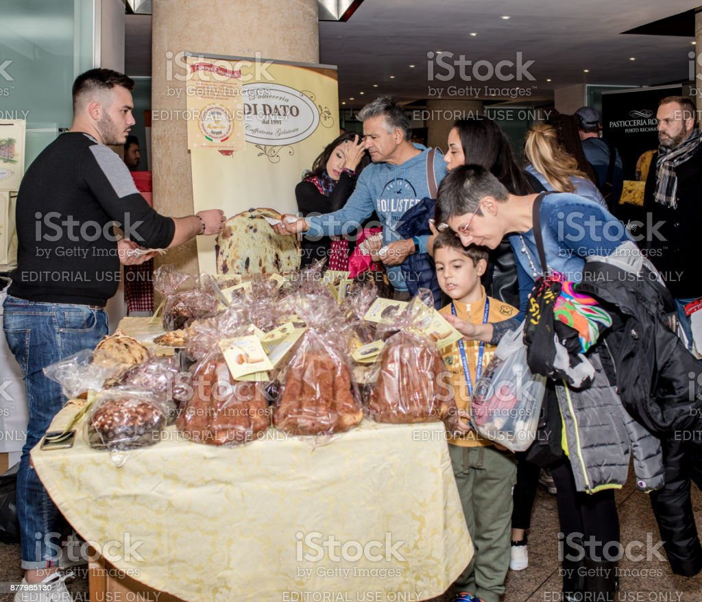 National Fair of Panettone and Pandoro Rome Italy stock photo