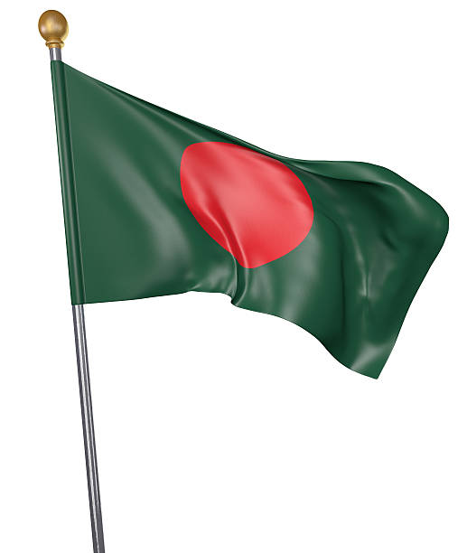 National flag for country of Bangladesh isolated on white background stock photo