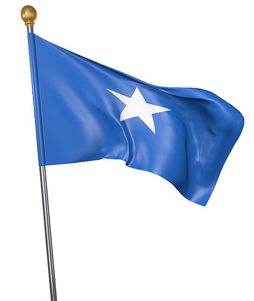 national flag for country of somalia isolated on white background - somalia stock photos and pictures