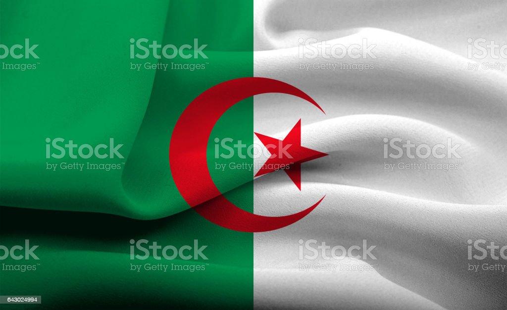 Bandera nacional de Argelia - foto de stock