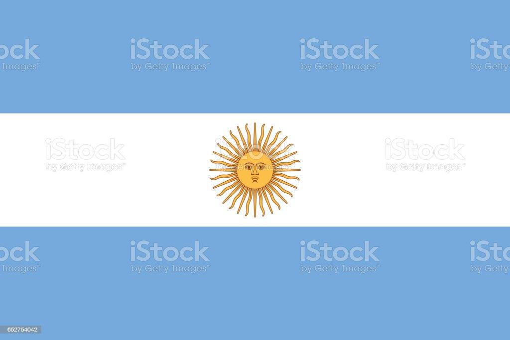 Bandera nacional de Argentina - foto de stock