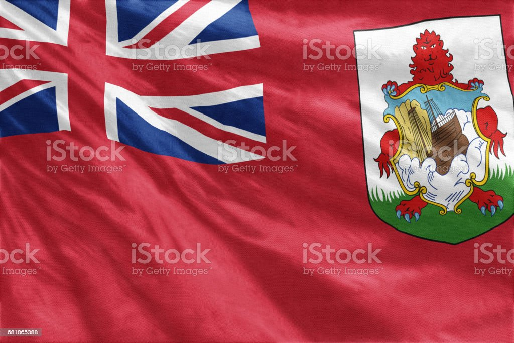 National flag of Bermuda full frame close-up stock photo