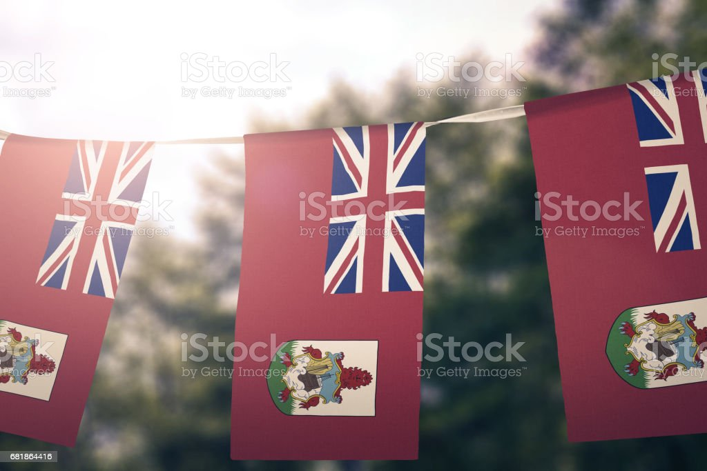 National flag of Bermuda pennant stock photo