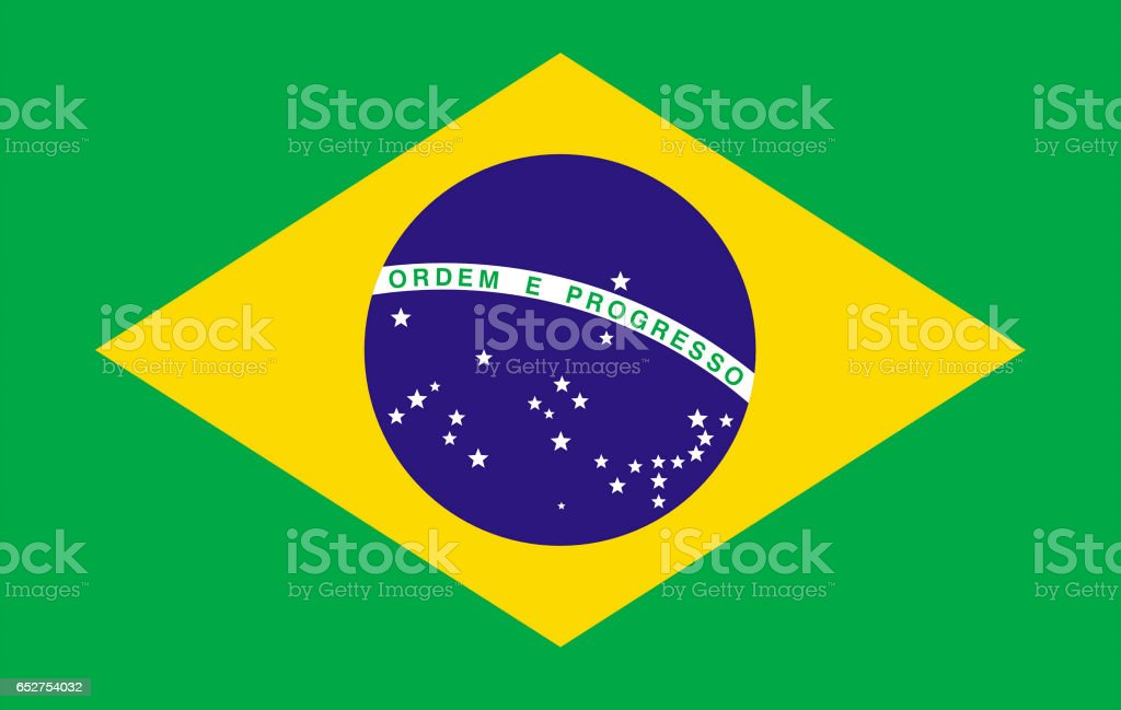 National flag of Brazil stock photo