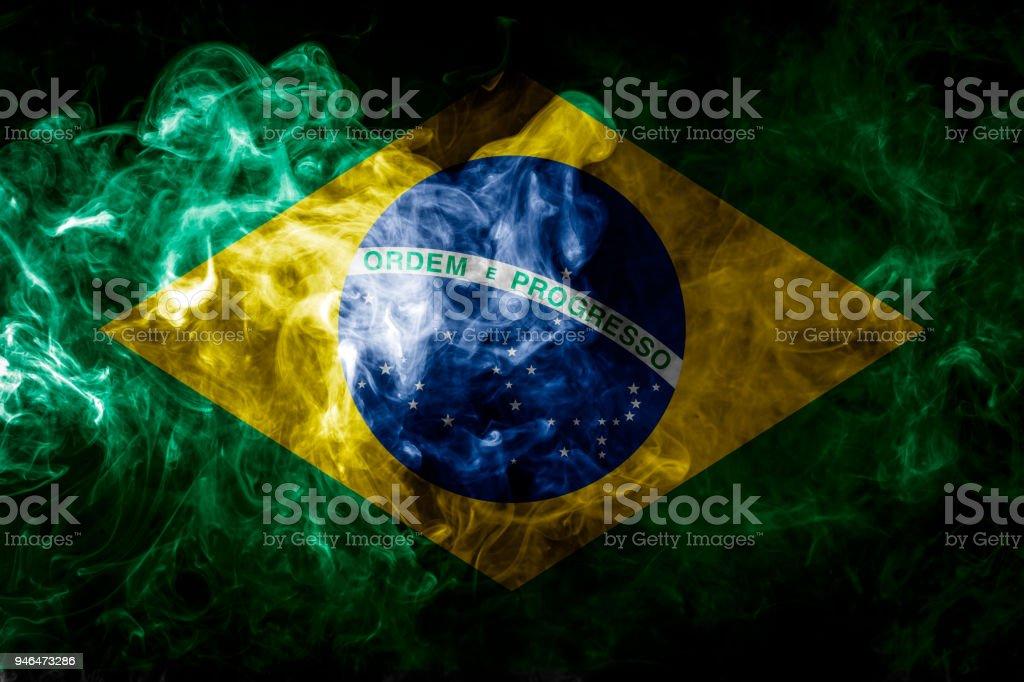 National flag of Brazil stock photo