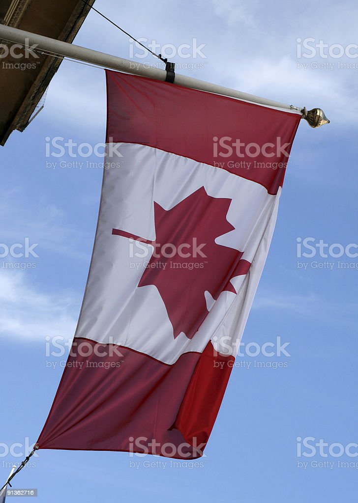 National flag of Canada royalty-free stock photo