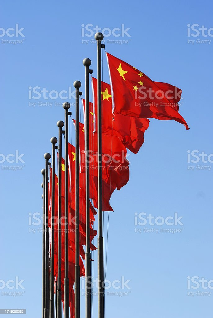 national flag of China stock photo