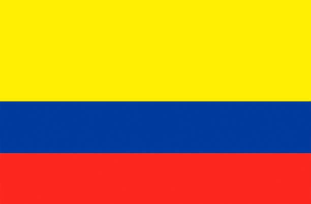 bandera nacional de colombia - bandera colombiana fotografías e imágenes de stock