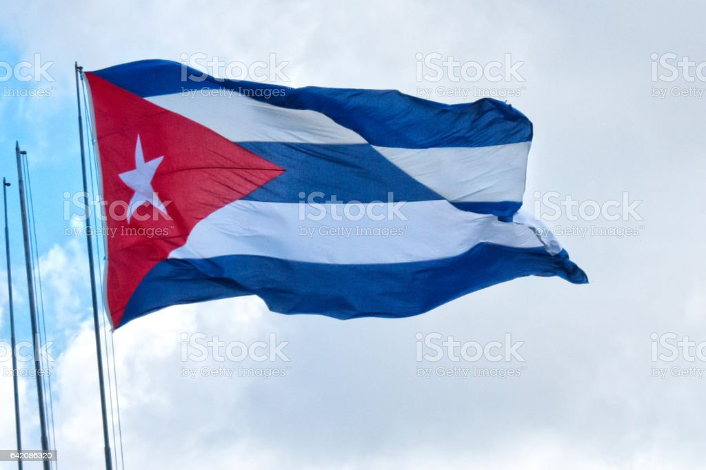 National Flag of Cuba stock photo