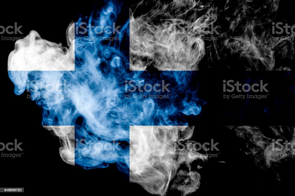 National flag of Finland stock photo