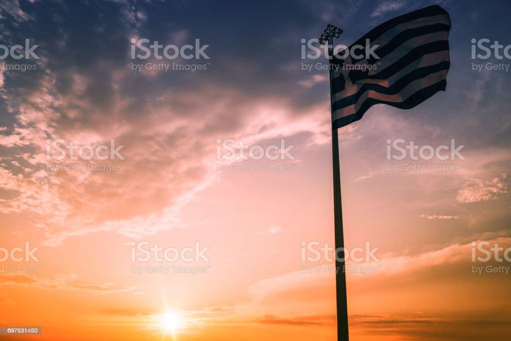 Bandera nacional de Grecia - foto de stock