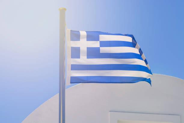 - Flagge von Griechenland – Foto