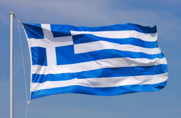 National flag of Greece stock photo