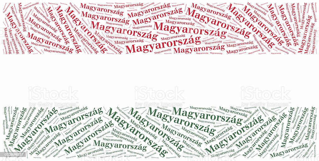 National flag of Hungary stock photo